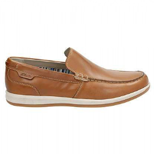 Clarks Mens Fallston Step Tan Leather Shoes